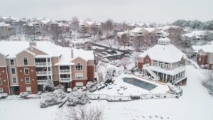 Winter at Lakeside Apartments