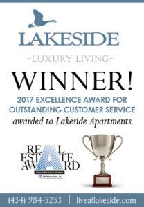 Lakeside Won 2017 Customer Service Excellence Award!