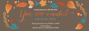 Lakeside Annual Fall Social – 11/17