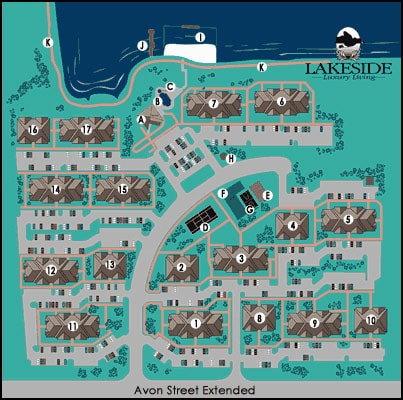 Lakeside Charlottesville Apartment Community Site Map