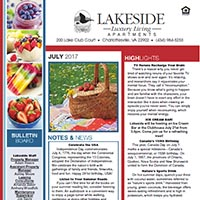 Lakeside Charlottesville Apartments July Newsletter