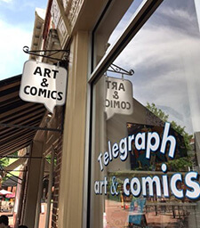 Telegraph Art & Comic Store in Charlottesville
